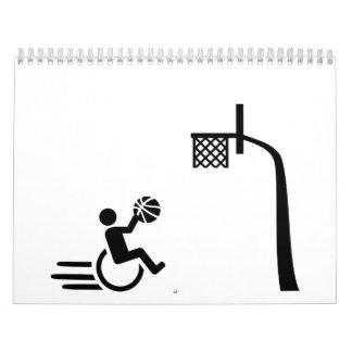 Baloncesto de silla de ruedas calendarios de pared