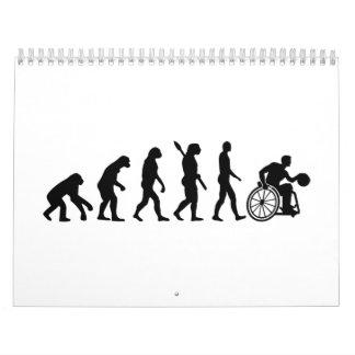Baloncesto de silla de ruedas de la evolución calendario de pared