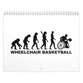 Baloncesto de silla de ruedas de la evolución calendarios de pared