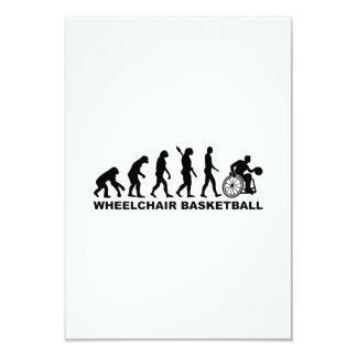 """Baloncesto de silla de ruedas de la evolución invitación 3.5"""" x 5"""""""