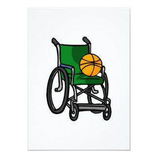 Baloncesto de silla de ruedas invitación 12,7 x 17,8 cm