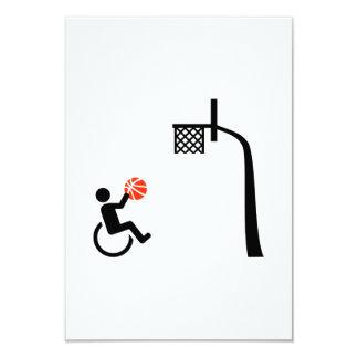 """Baloncesto de silla de ruedas invitación 3.5"""" x 5"""""""