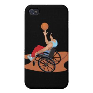 baloncesto de silla de ruedas iPhone 4/4S carcasas