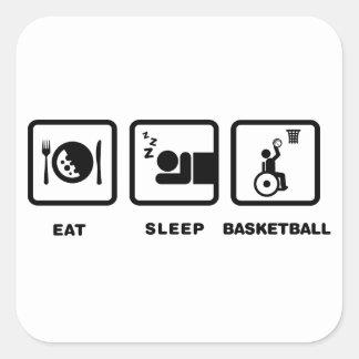 Baloncesto de silla de ruedas calcomanía cuadradas personalizadas