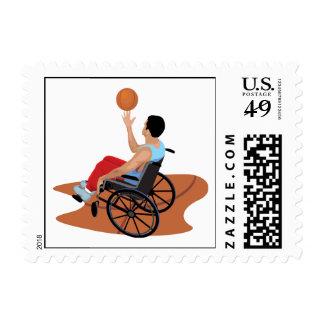 baloncesto de silla de ruedas sello
