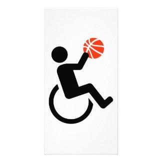 Baloncesto de silla de ruedas tarjeta personal con foto