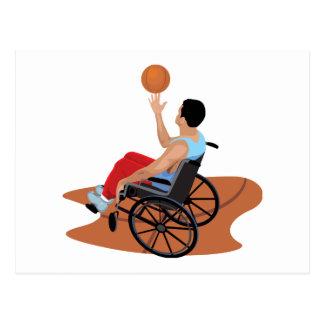 baloncesto de silla de ruedas tarjeta postal