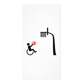Baloncesto de silla de ruedas tarjetas con fotos personalizadas