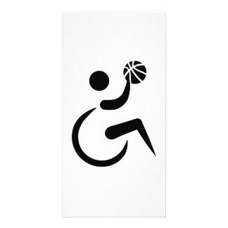 Baloncesto de silla de ruedas tarjetas fotográficas
