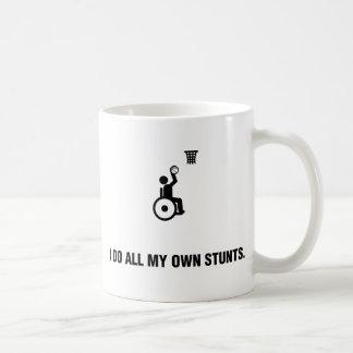 Baloncesto de silla de ruedas taza de café