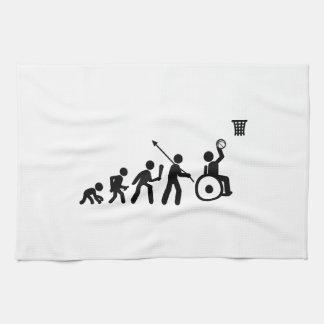 Baloncesto de silla de ruedas toallas