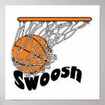 baloncesto de Swoosh Poster