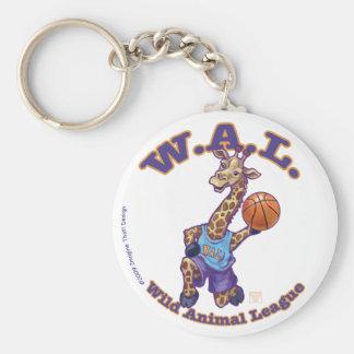 Baloncesto de WAL Llavero Redondo Tipo Pin