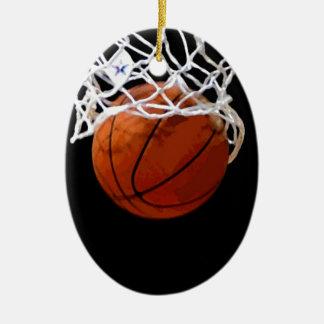 Baloncesto Adorno Ovalado De Cerámica