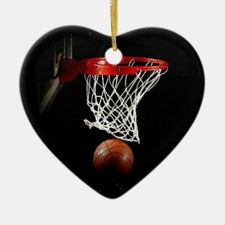 Baloncesto Adorno De Cerámica En Forma De Corazón