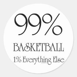 Baloncesto del 99% pegatina redonda