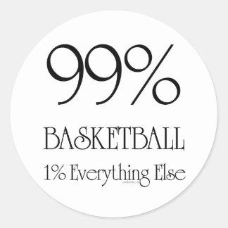 Baloncesto del 99% etiquetas redondas