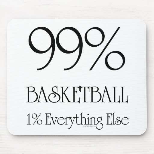 Baloncesto del 99% tapete de raton