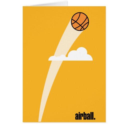 Baloncesto del Airball Tarjeta