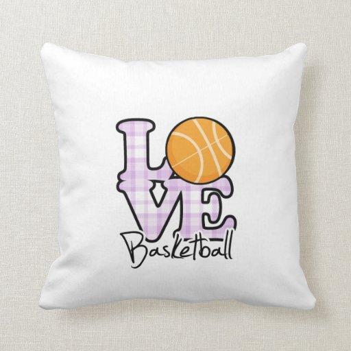 Baloncesto del amor almohadas
