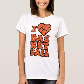 Baloncesto del amor, bloque del lg, orangeblk playera