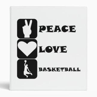 Baloncesto del amor de la paz