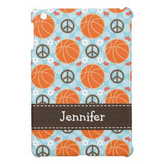 Baloncesto del amor de la paz iPad mini protector