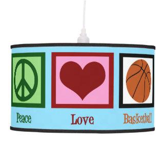 Baloncesto del amor de la paz lámpara de techo