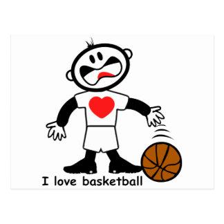 Baloncesto del amor de los niños I Tarjetas Postales