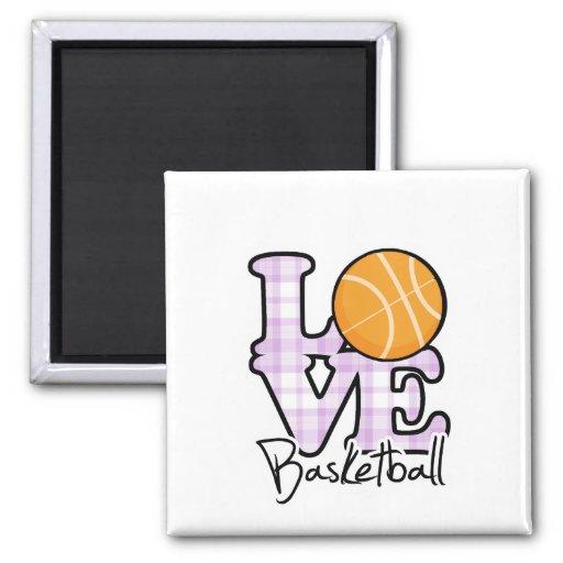 Baloncesto del amor iman para frigorífico
