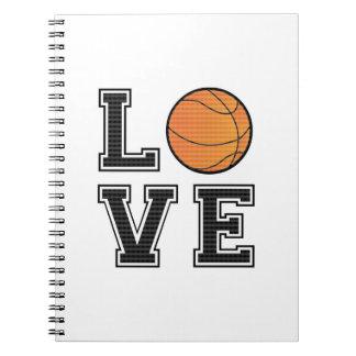 Baloncesto del amor libreta