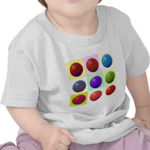 Baloncesto del arte pop camisetas