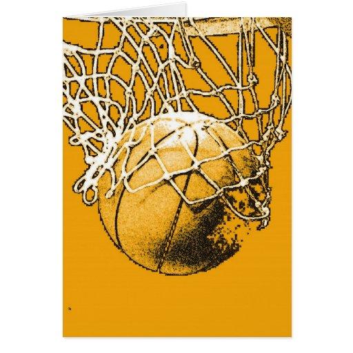 Baloncesto del arte pop felicitacion
