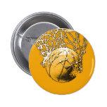 Baloncesto del arte pop pin