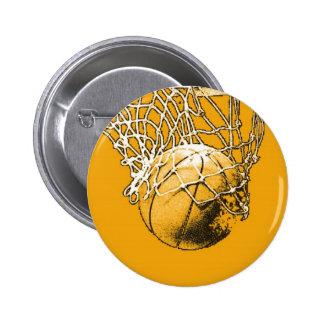 Baloncesto del arte pop pin redondo de 2 pulgadas