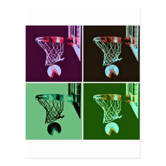 Baloncesto del arte pop postal