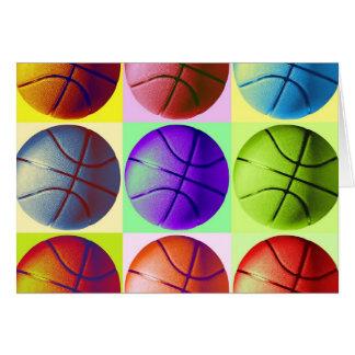 Baloncesto del arte pop tarjeta de felicitación