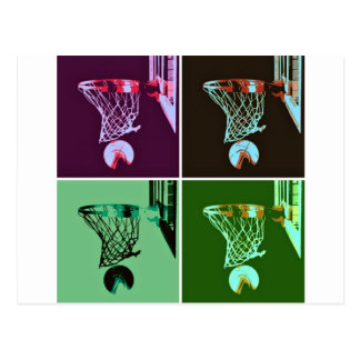 Baloncesto del arte pop tarjetas postales