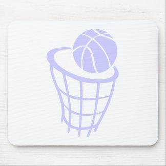 Baloncesto del azul de la lavanda tapetes de raton