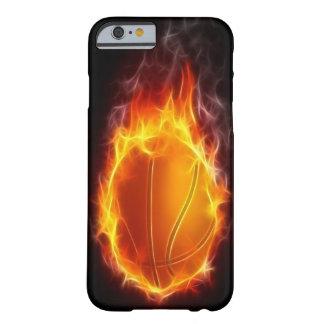 Baloncesto del caso del iPhone 6 del fuego Funda Para iPhone 6 Barely There