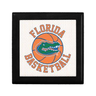 Baloncesto del cocodrilo de la Florida Joyero Cuadrado Pequeño
