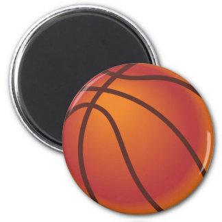 Baloncesto del dibujo animado imán redondo 5 cm