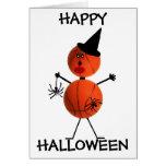 Baloncesto del feliz Halloween Tarjeta