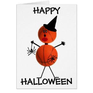 Baloncesto del feliz Halloween Tarjeta De Felicitación