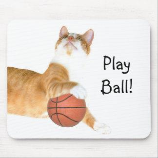Baloncesto del gato alfombrillas de ratón