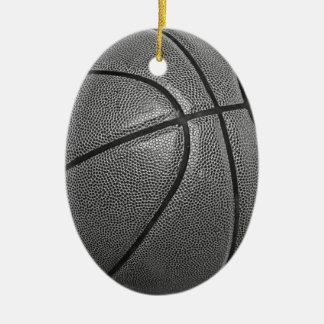 Baloncesto del Grayscale Adorno Ovalado De Cerámica