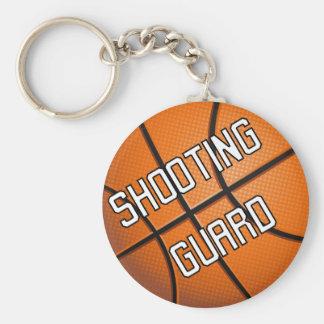 Baloncesto del guardia de tiroteo llavero redondo tipo pin
