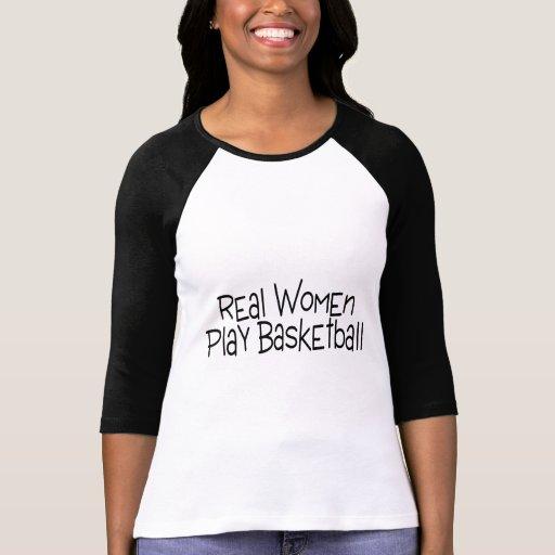 Baloncesto del juego de las mujeres reales camisetas