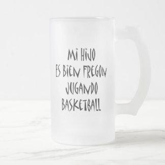 Baloncesto del MI Hijo Es Bien Fregon Jugando Taza De Café