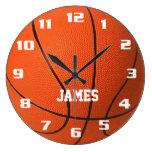 Baloncesto del monograma relojes de pared